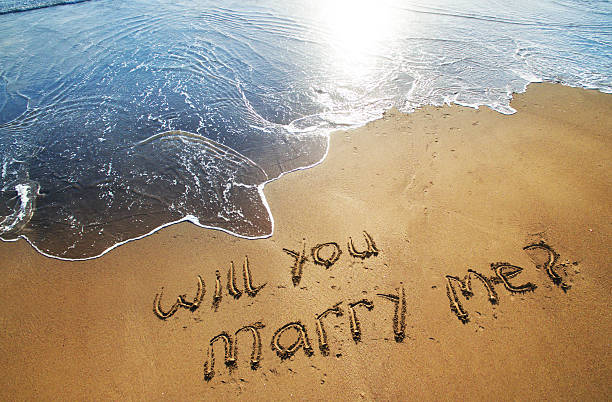 Will you marry me written in sand on beach:スマホ壁紙(壁紙.com)