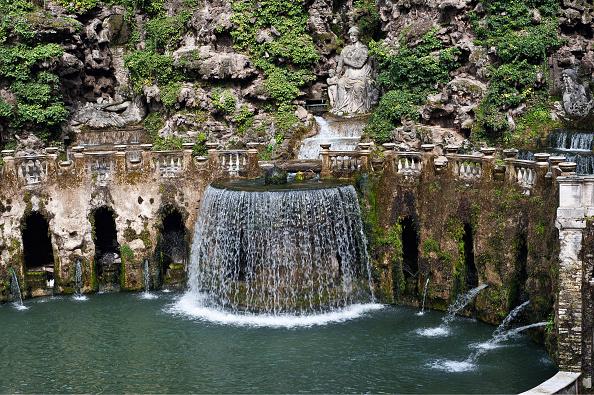 Villa「Garden Of The Villa D'Este In Tivoli」:写真・画像(6)[壁紙.com]