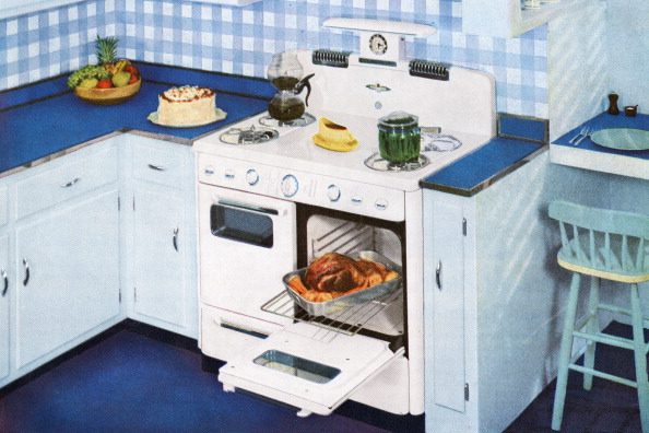 Roast Dinner「1950s Blue Kitchen」:写真・画像(16)[壁紙.com]