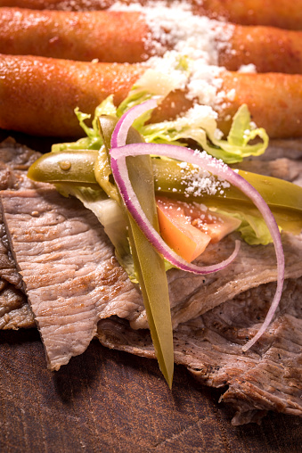 Delicatessen「Grilled slices of steak and mexican enchiladas (Cecina)」:スマホ壁紙(4)