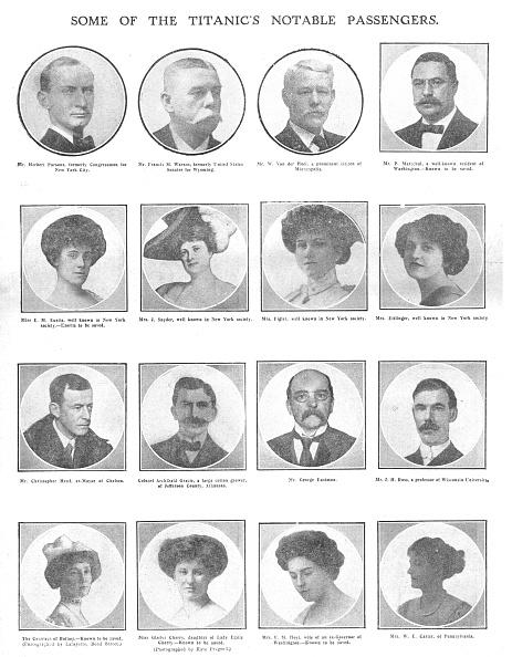 Passenger「Some Of The Titanics Notable Passengers A」:写真・画像(14)[壁紙.com]