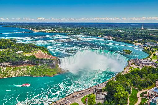 Tourboat「Horseshoe falls with boat,Niagara Falls」:スマホ壁紙(10)