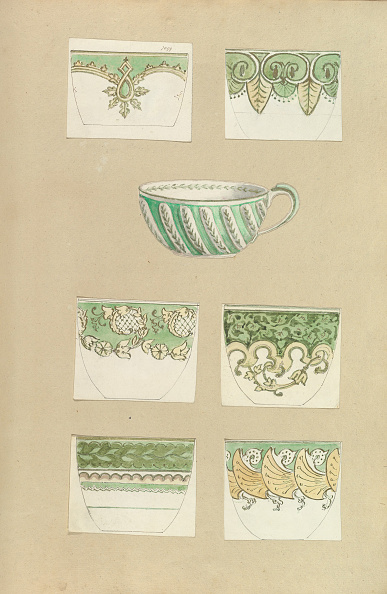 Tea Cup「Seven Designs For Decorated Cups」:写真・画像(3)[壁紙.com]