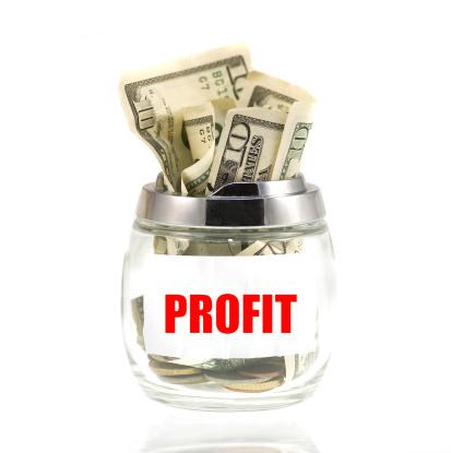 Better fortune「profit dollars in piggybank glass」:スマホ壁紙(15)