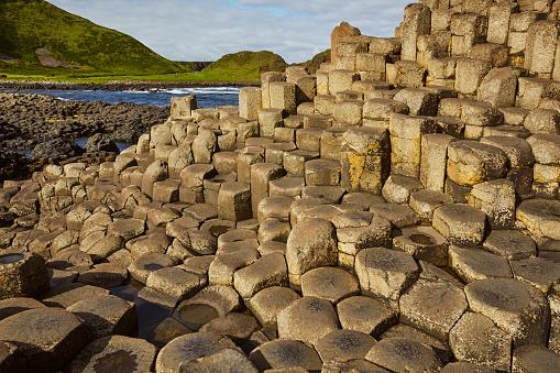 Basalt「The Giant's Causeway, a World Heritage Site, in County Antrim, Northern Ireland, UK」:スマホ壁紙(4)
