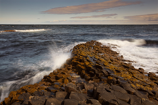 Basalt「The Giant's Causeway, a World Heritage Site, in County Antrim, Northern Ireland, UK」:スマホ壁紙(5)