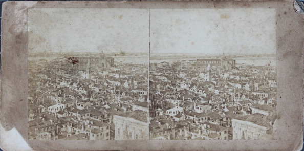 Lagoon「Venecia.  View From The Tower Of St. Mark'S Church. About 1880. Stereo Photograph.」:写真・画像(16)[壁紙.com]