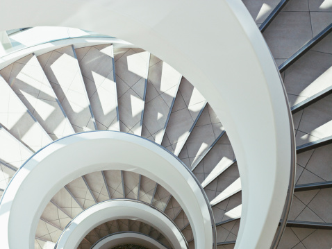 Cape Town「Directly above modern, spiral staircase」:スマホ壁紙(12)