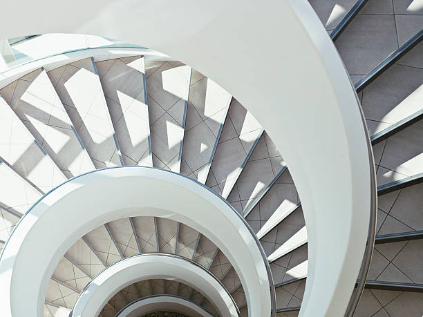 Directly above modern, spiral staircase:スマホ壁紙(壁紙.com)