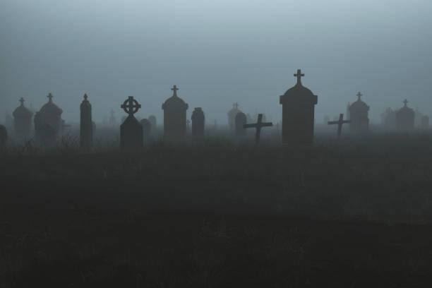 Spooky graveyard at night:スマホ壁紙(壁紙.com)