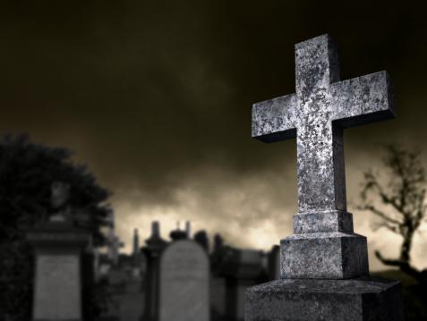 ハロウィン「スプーキー墓地」:スマホ壁紙(3)