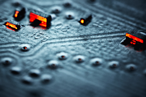 Mother Board「Circuit Board Components Extreme Close-up」:スマホ壁紙(14)
