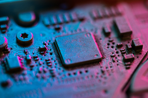 Mother Board「Circuit Board Components Extreme Close-up」:スマホ壁紙(13)