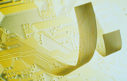 Motor Racing Track「Circuit board and cable, close-up」:スマホ壁紙(9)
