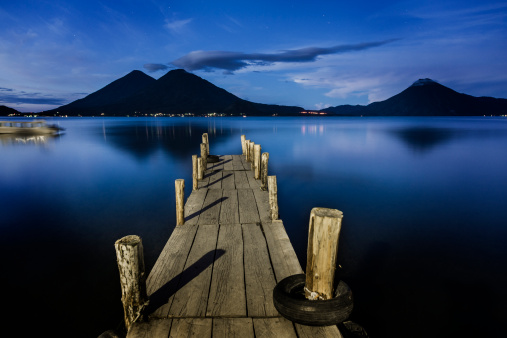 Lake Atitlan「Wooden pier in Lake Atitlan」:スマホ壁紙(13)