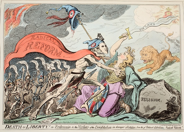 Cartoon「Death Or Liberty! Or Britannia & The Virtues Of The Constitution In Danger Of Violation ?」:写真・画像(10)[壁紙.com]