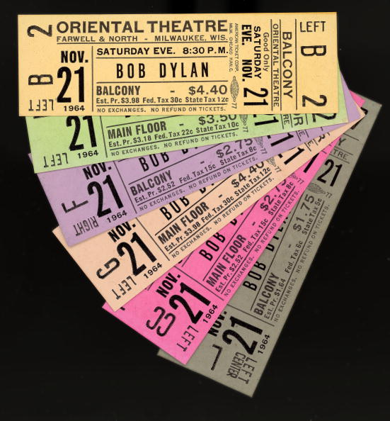 No People「Tickets For 1964 Bob Dylan Concert In Milwaukee」:写真・画像(17)[壁紙.com]