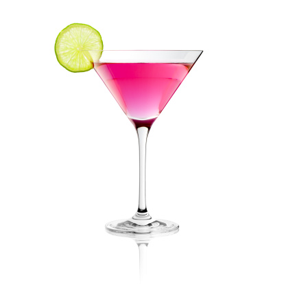 Pink Color「Classic Cosmopolitan Drink with Lime Decoration - Cocktail Glass Martini」:スマホ壁紙(14)