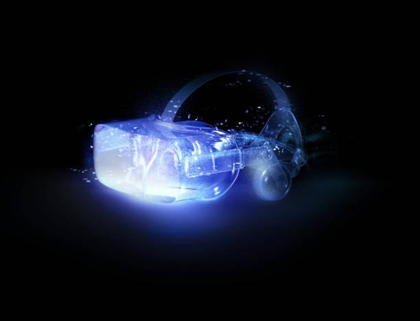 VR goggles blue:スマホ壁紙(壁紙.com)