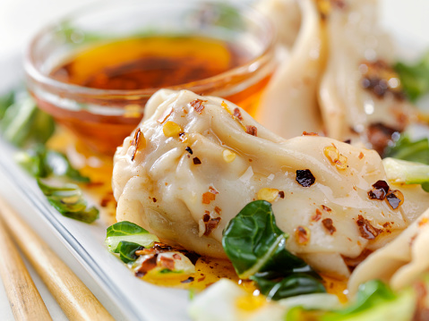 Chili Sauce「Steamed Wontons With Bok Choy and Chili oil」:スマホ壁紙(3)