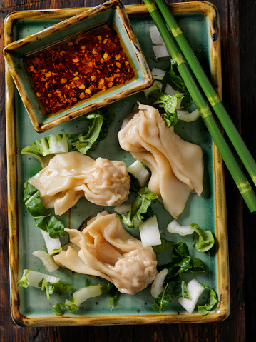 Chili Sauce「Steamed Wontons With Bok Choy and Chili oil」:スマホ壁紙(1)