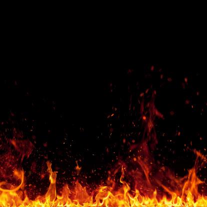 Defocus「XXXL 火災、明るいスパーク絶縁に黒色の背景」:スマホ壁紙(17)