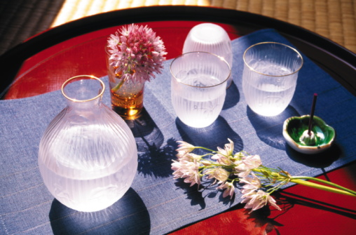 Sake「Sake and flower arrangement」:スマホ壁紙(13)