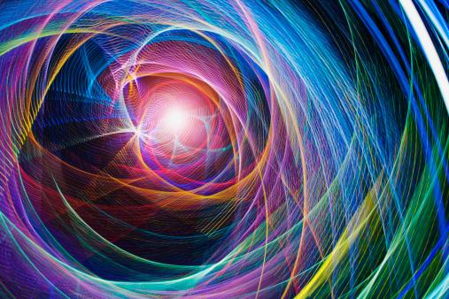 Electronics Industry「Abstract light patterns」:スマホ壁紙(10)