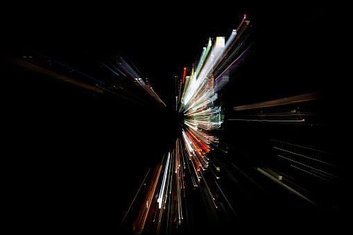 Connection「abstract light painting resembling digital world」:スマホ壁紙(14)