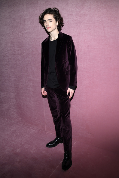 Timothée Chalamet「Berluti : Front Row  - Paris Fashion Week - Menswear F/W 2018-2019」:写真・画像(6)[壁紙.com]