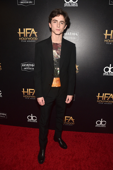 Timothée Chalamet「22nd Annual Hollywood Film Awards - Press Room」:写真・画像(15)[壁紙.com]