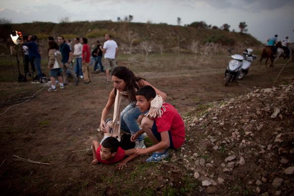 Gaza Strip「Israel Intercepts Missile Attack On Tel Aviv」:写真・画像(11)[壁紙.com]
