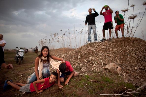 Gaza Strip「Israel Intercepts Missile Attack On Tel Aviv」:写真・画像(12)[壁紙.com]