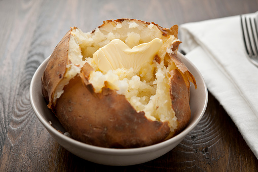 Prepared Potato「Baked potato with melting butter」:スマホ壁紙(13)