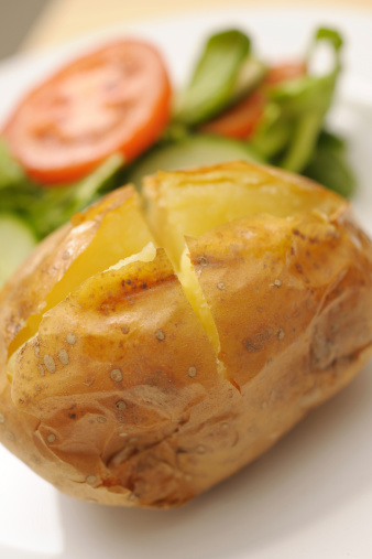 Baked Potato「baked potato with salad」:スマホ壁紙(9)