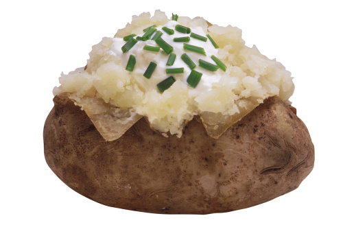 Baked Potato「Baked potato with sour cream and chives」:スマホ壁紙(14)