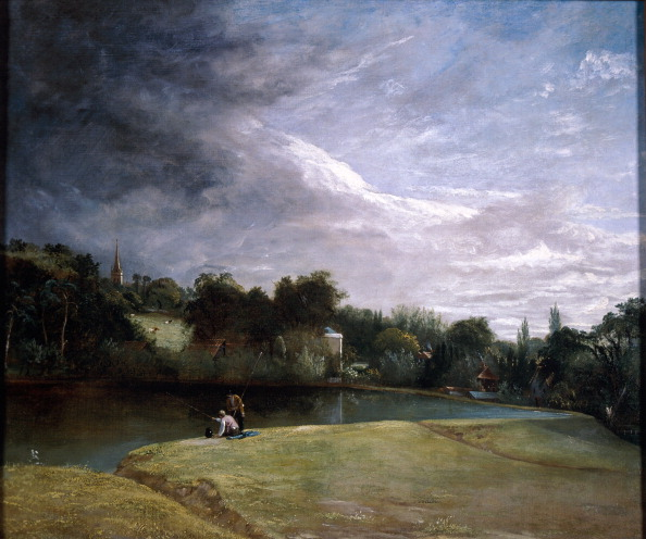 Overcast「Boys Fishing in a Reservoir near Hampstead. Artist: Thomas Christopher Hofland」:写真・画像(13)[壁紙.com]