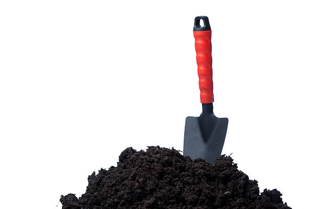 Garden trowel on organic compost:スマホ壁紙(壁紙.com)
