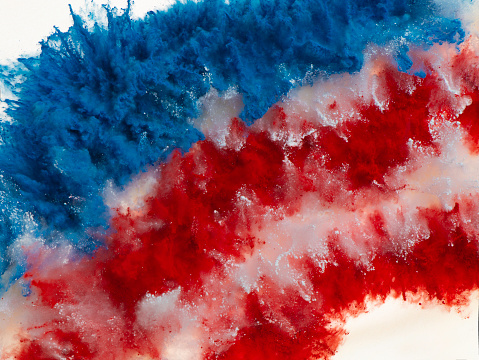 Patriotism「Exploding Red, White and Blue Colored Powder」:スマホ壁紙(5)
