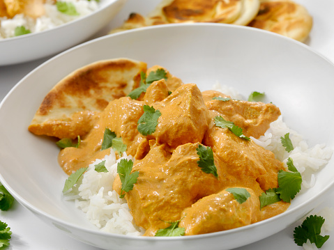 Chicken Curry「Butter Chicken with Rice and Naan」:スマホ壁紙(6)