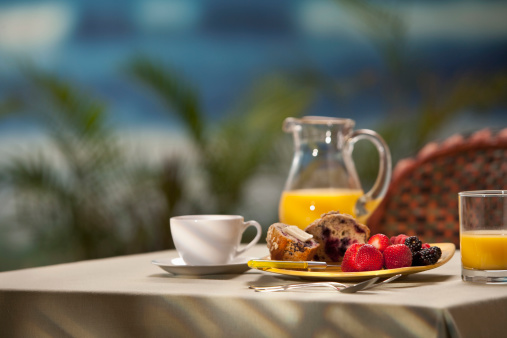 ソーサー「Breackfast on table at resort location」:スマホ壁紙(13)