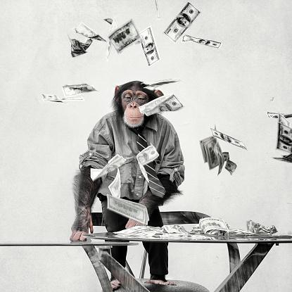 Well-dressed「Chimp with cash」:スマホ壁紙(18)