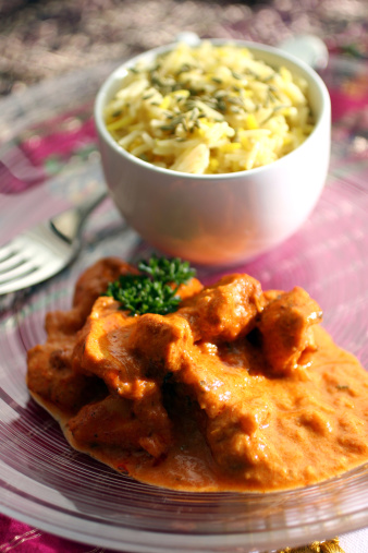 Basmati Rice「Chicken Tikka Masala curry with basmati rice.」:スマホ壁紙(4)