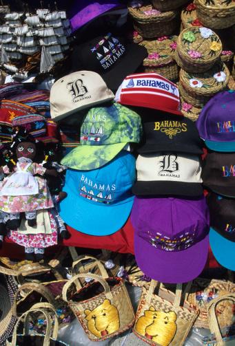 Gift Shop「Various souvenirs at market stall, elevated view, close-up」:スマホ壁紙(1)