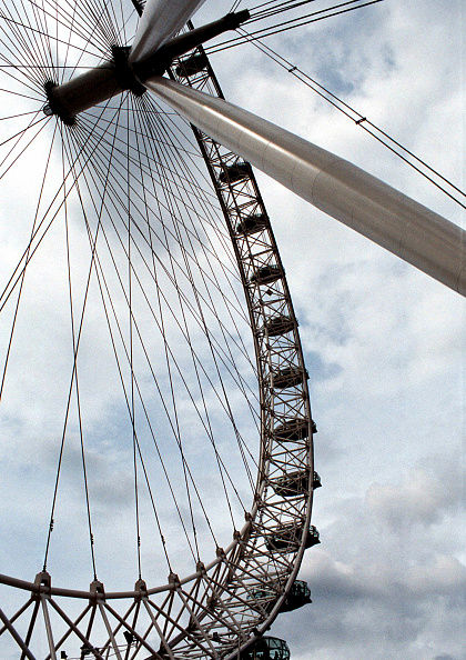Amusement Park Ride「Detail of the London Eye (Millennium Wheel). London, United Kingdom. Designed by David Marks and Julia Barfield.」:写真・画像(12)[壁紙.com]