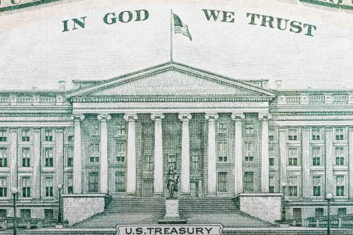 Religion「Detail of the back of a US ten dollar bill」:スマホ壁紙(0)