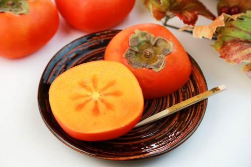 柿「Hiratanenashi-gaki (Seedless persimmon)」:スマホ壁紙(14)