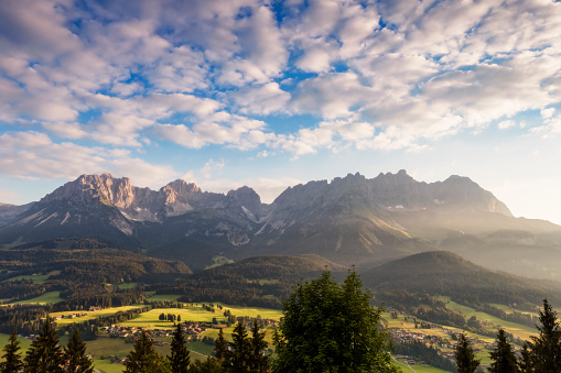 Ellmau「Wilder Kaiser, Austria, Tirol  - Sunrise at Kaiser Mountains」:スマホ壁紙(10)