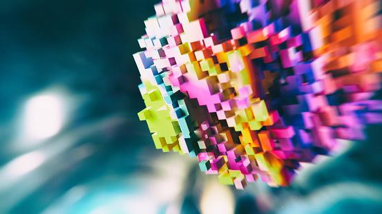 Internet「Block chain colorful abs background」:スマホ壁紙(5)