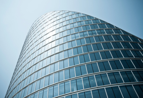 Architectural Feature「london architecture: classic modern bent building facade」:スマホ壁紙(2)